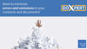 Want to minimize errors and omissions in your contracts and documents?